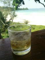 Mekong Whiskey above the surf, Coconut Beach, Koh Rong Island, Cambodia