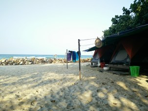 Beachside Tents on Koh Rong Island, Cambodia