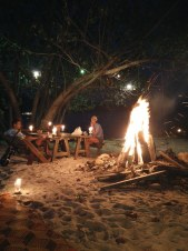 Evening fire on the beach, Koh Rong Island, Cambodia